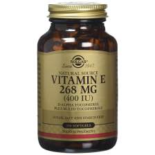 Solgar Vitamin E Συμπλήρωμα Διατροφής Φυσικής Πηγής Βιταμίνη Ε Πλούσια σε Αντιοξειδωτικά Natural softgels - 268mg 400iu 100s