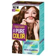 Schwarzkopf Pure Color Επαγγελματική Μόνιμη Βαφή Gel Μαλλιών, Έντονο Χρώμα που Διαρκεί, Πλούσια Περιποίηση & Ενυδάτωση - 7.60 Milky Chocolate