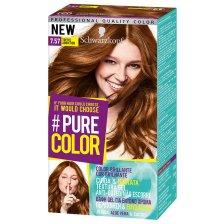 Schwarzkopf Pure Color Επαγγελματική Μόνιμη Βαφή Gel Μαλλιών, Έντονο Χρώμα που Διαρκεί, Πλούσια Περιποίηση & Ενυδάτωση - 7.57 Toffee Addiction