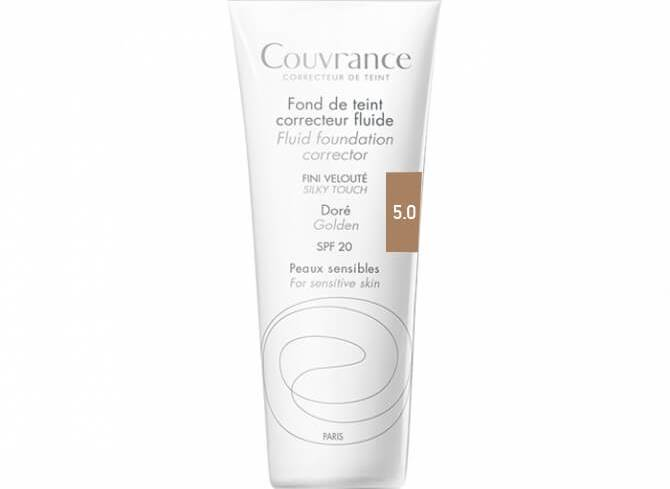 Avene Couvrance Fond te Teint Correcteur Fluide Spf 20 Υγρό Διορθωτικό Make-up30ml - Doré (5.0)