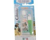 Pasta Del Capitano Travel Kit Junior Παιδικό Σετ Στοματικής Υγιεινής από 6 Ετών, με Οδοντόβουρτσα & Οδοντόκρεμα 20ml - πράσινο