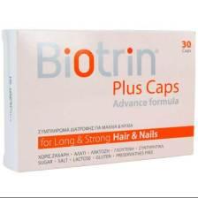 Biotrin Plus Caps Συμπλήρωμα Διατροφής για την Καλή Υγεία των Μαλλιών & των Νυχιών 30Caps