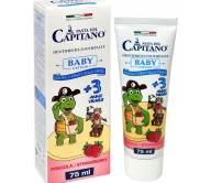 Pasta Del Capitano Baby Οδοντόκρεμα Παιδική απο 3 Ετών με Γεύση Φράουλα 75ml