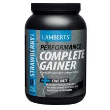 Lamberts Complete Gainer Πρωτεΐνη σε Σκόνη Ορού Γάλακτος,μεΣύμπλοκο Υδατανθράκων ,Κρεατίνης, Βήτα Αλανίνης καιHMB1816mg - Strawberry
