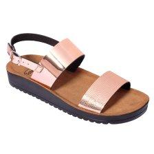 Dr Scholl Shoes Cynthia Sandal Rose Gold Γυναικεία Ανατομικά Παπούτσια Χαρίζουν Σωστή Στάση & Φυσικό Χωρίς Πόνο Βάδισμα 1Ζευγάρι - 36