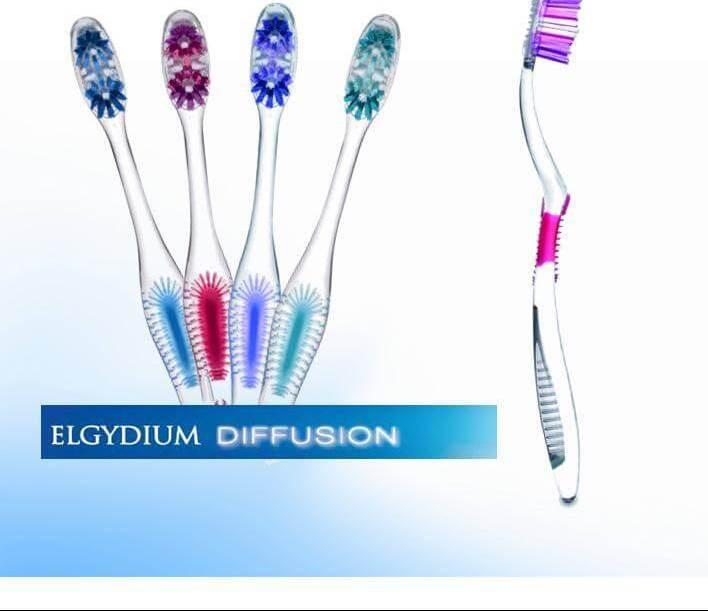 Elgydium Diffusion Οδοντόβουρτσα Με Πρωτοποριακή Τεχνολογία AFT Για Ολοκληρωμένο Και Πλήρη Καθαρισμό Του Στόματος Soft - μωβ
