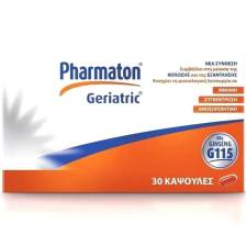 Pharmaton Geriatric Συμπλήρωμα Διατροφής με Συνδυασμό Βιταμινών Μετάλλων Ιχνοστοιχείων & Ginseng G115, 30 caps
