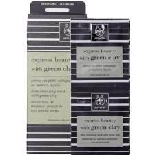 Apivita Express Beauty Μάσκα Για Bαθύ Kαθαρισμό Με Πράσινη Άργιλο 2x8ml