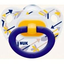 NUK Classic Happy Days σιλικόνης με κρίκο, μεγέθη 1-3 - Μέγεθος 2 (6-18 μηνών)