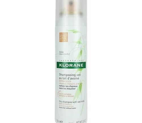 Klorane Shampoo Sec Spray Avoine Teinte Naturelle Ξηρό Σαμπουάν Με Γαλάκτωμα Βρώμης Ανοικτά ή Σκούρα Καστανά Μαλλιά 150ml
