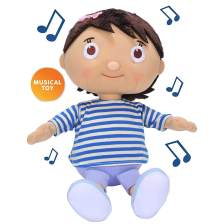 Little Baby Bum Musical Mia Doll Singing Μουσικό Χαρούμενο Κοριτσάκι Λούτρινο Παιχνίδι με 4 Τραγουδάκια Εκμάθησης