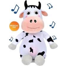 Little Baby Bum Musical Cow Singing Daizy Αγελαδίτσα Μουσική Λούτρινο Παιχνίδι με 4 Τραγουδάκια Εκμάθησης