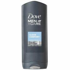 Dove Men Care Clean Comfort Body & Face Wash Αφρόλουτρο για την Απόλυτη Φροντίδα της Ανδρικής Επιδερμίδας 400ml