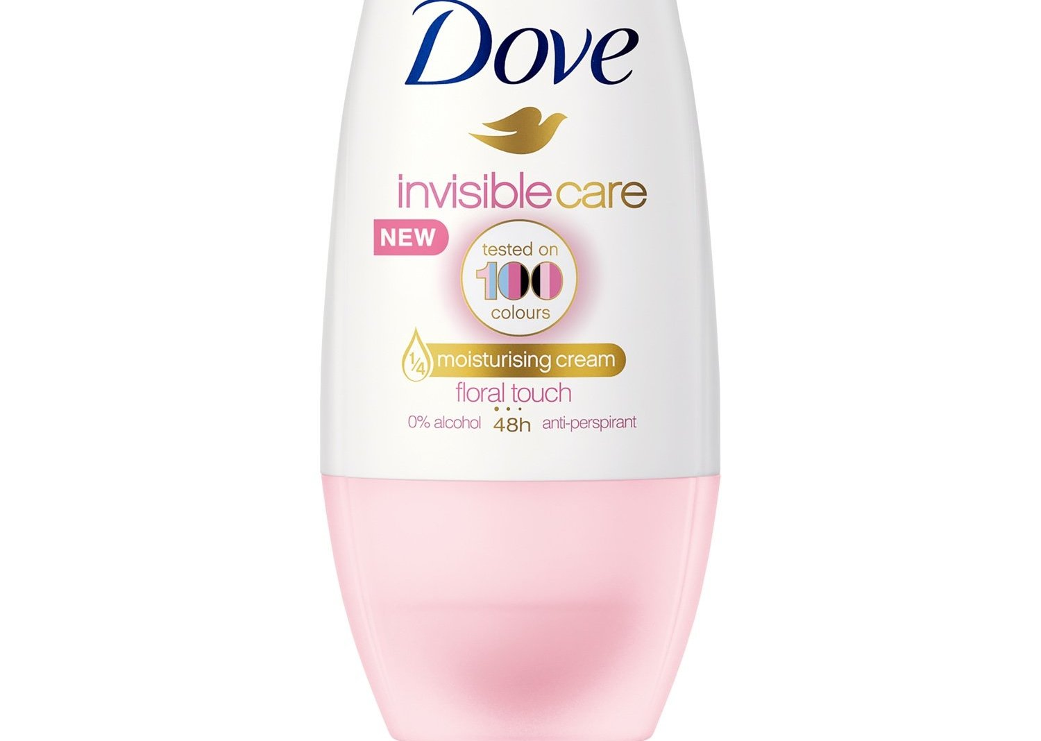 Dove Deo Roll On Invisible Care 48h Floral Touch Αποσμητικό 48ωρης Αντιιδρωτικής Προστασίας Χωρίς Λευκά Σημάδια στα Ρούχα 50ml