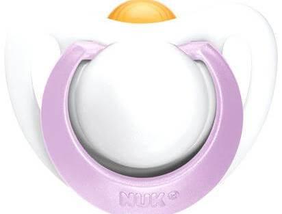 Nuk Genius Orthodontic SootherΠιπίλα Καουτσούκ με Κρίκο για Μικρόσωμα Νεογέννητα 0-2 Μηνών Χωρίς BPA - γαλάζιο
