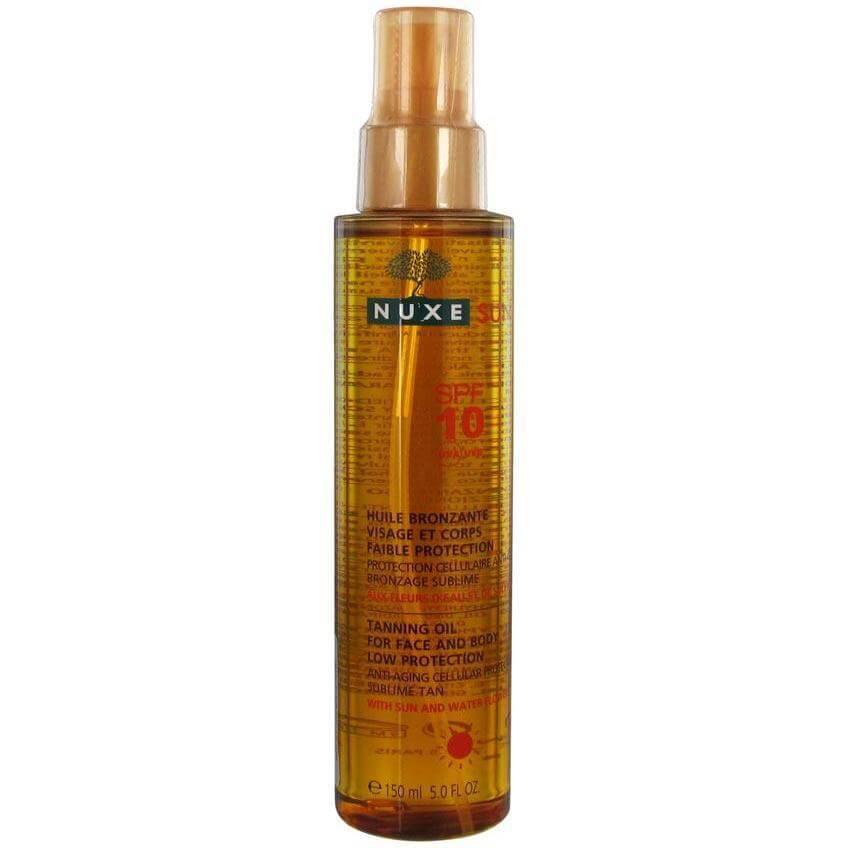 Nuxe Sun Tanning Oil - Λάδι Μαυρίσματος για Πρόσωπο & Σώμα Spf10 σε Ειδική Τιμή 150ml