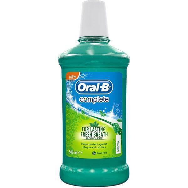 Oral-B Complete Στοματικό Διάλυμα Για Δροσερή Αναπνοή 500ml