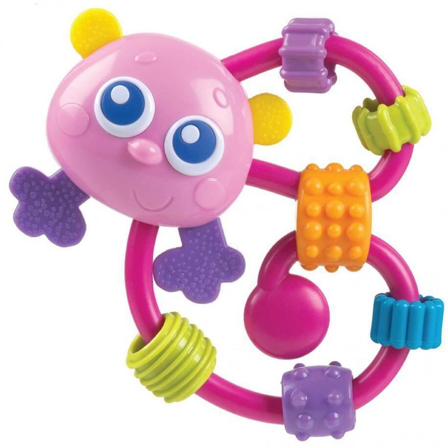 Playgro Curly Critter Παιδική Κουδουνίστρα Ποντικάκι 3m+ BPA Free