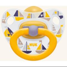 Nuk Classic Happy Kids καουτσούκ με κρίκο, μεγέθη 1-3 - Μέγεθος 1 (0-6 μηνών)