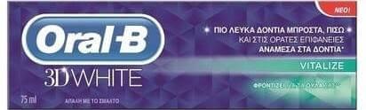 Oral-B 3D White Revitalize Οδοντόπαστα Για Πιό Λευκά Δόντια 75ml