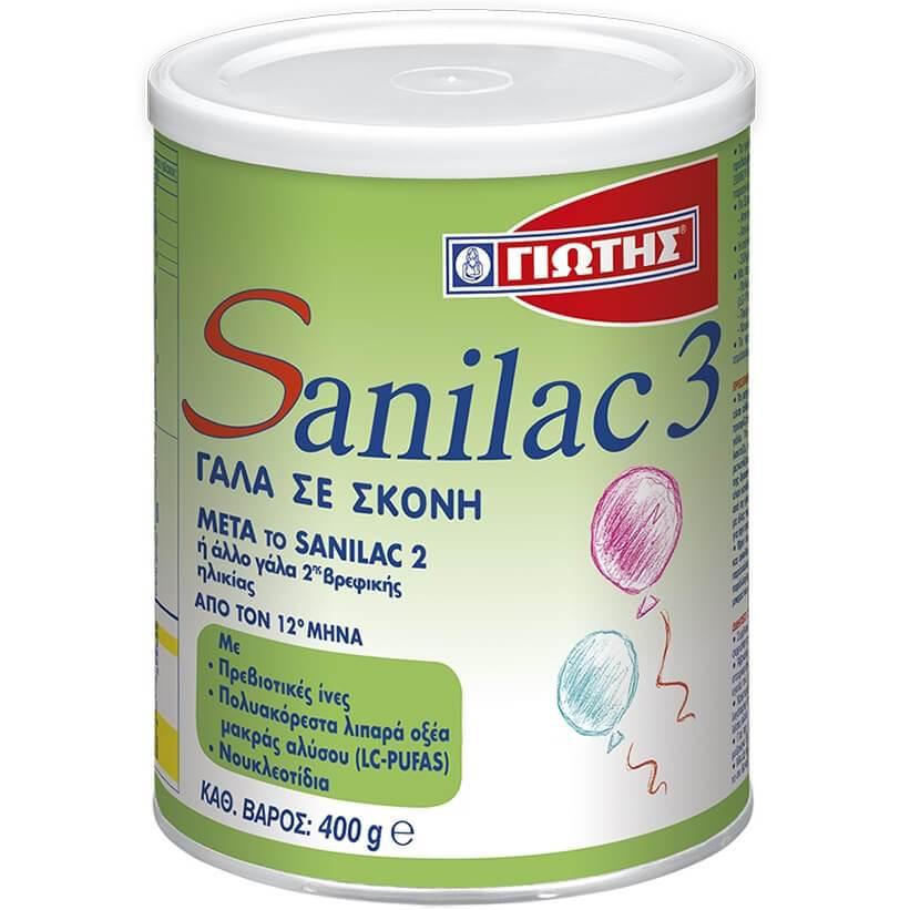 Sanilac 3 Γάλα για Παιδιά από τον 12ο Μήνα 400gr