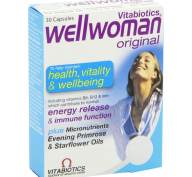 Vitabiotics Wellwoman Original Συμπλήρωμα Διατροφής Μοναδική Σύνθεση Φυτικών Εκχυλισμάτων 30tabs