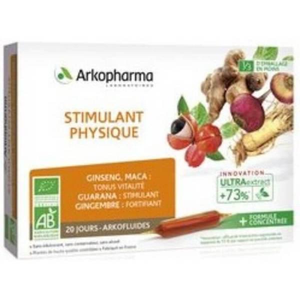 Arkopharma Arkofluides Physical Stimulant Bio -20x10ml-