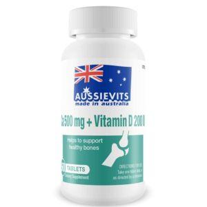 Aussievits Ca-500mg + VitaminD-200 IU
