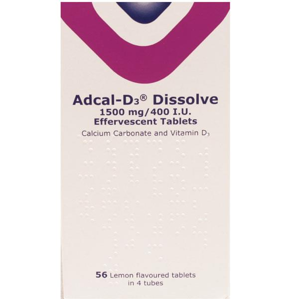 Adcal D3 Dissolve Effervescent 56 Tablets