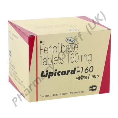 Fenofibrate (Lipicard) - 160mg (10 Tablets) :: Cholesterol ...
