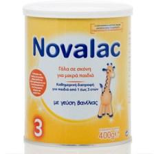 Novalac 3 ,Ρόφημα Γάλακτος σε σκόνη με γεύση βανίλια για μικρά παιδιά από 1-3 ετών 400gr