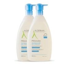 A-Derma Primalba Cleansing Gel 2 In 1 / -50% στο 2ο Προϊόν, 2x500ml