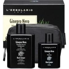 L'Erbolario Maxi Beauty Set / Ginepro Nero Acqua di Profumo 50ml & Energising Shower -Shampoo - 250ml με Αρωματικές Νότες από: Καρποί Κέδρου, Γλυκό Πορτοκάλι, Ξύλο Κέδρου, Μπέντζαμιν Σουμάτρας