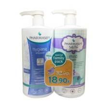 Pharmasept Special Family Pack / Tol Velvet Hygienic Shower lt & Tol Velvet Mild Bath 1lt