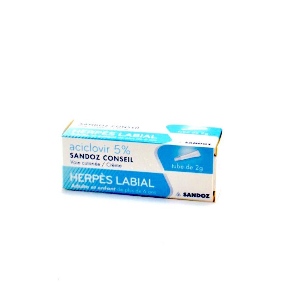 Aciclovir 5% 2g Herpès labial
