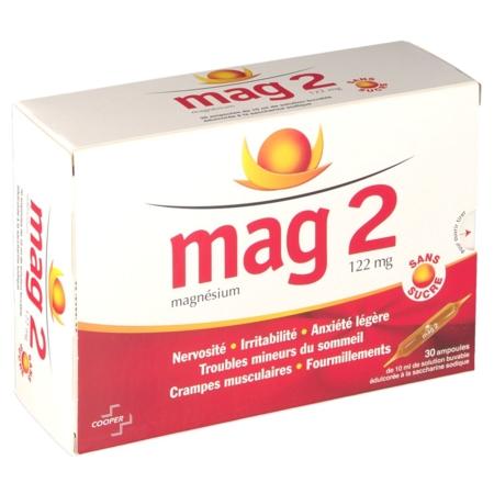 mag 2 sans sucre 122 mg prix notice