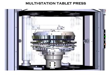 image of a rotary tablet press
