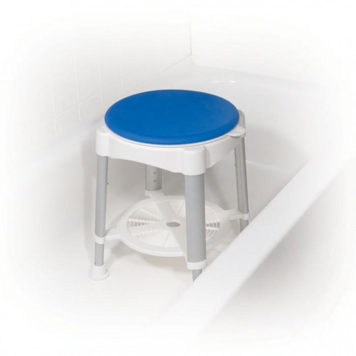 banc de bain ou chaise pour baignoire avec siege pivotant rembourre