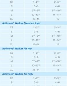 Walker boots cam actimove size chart also short air pneumatic walking rh pharmathera