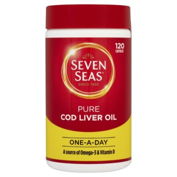 Seven Seas Pure Cod Liver Oil One a Day Caps X 120