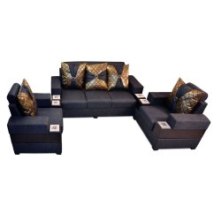 Cheap Sofa Sets 5 Seater Lombardy Bonded Leather Sectional With Ottoman And Pillows Most Affordable Set 3 431 Dark