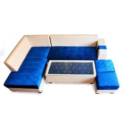 Blue Colour Sofa Set Best Under 2000 Velvet L Shaped Couch
