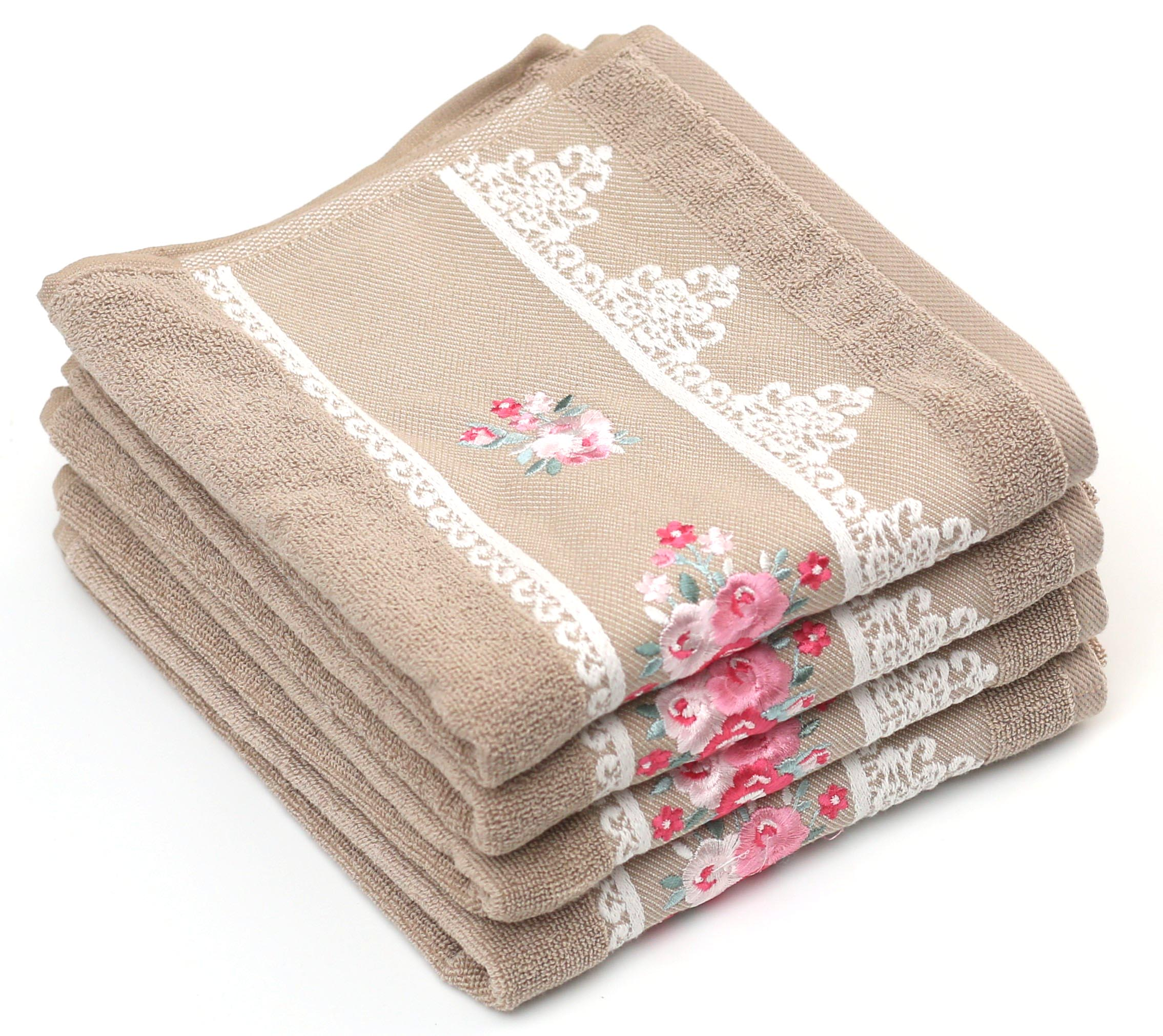 Ozdilek - Super Soft Large Hand Towels 20x35 inches - 100% Pure Turkish  Cotton - Ideal for Daily Use - Set of 4 (Lavista - Beige)