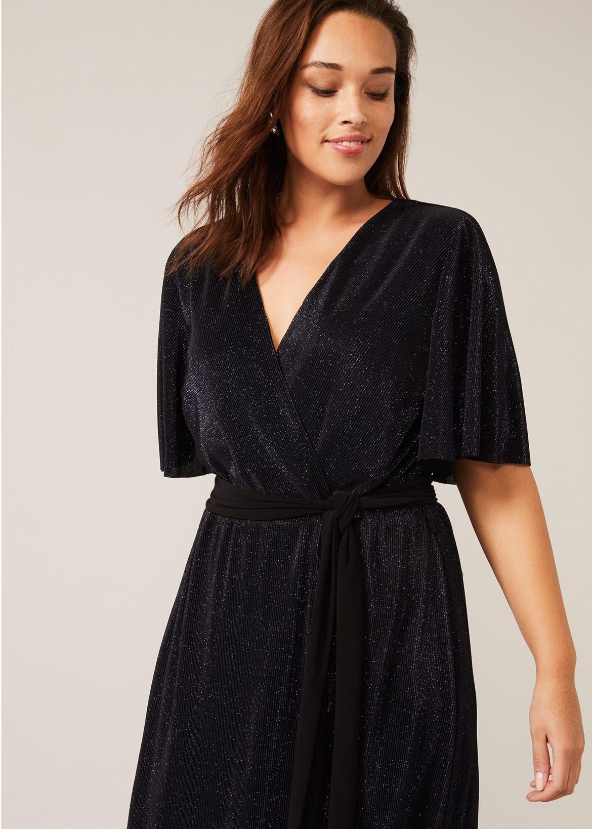 Hattie Plisse Sparkle Maxi Dress