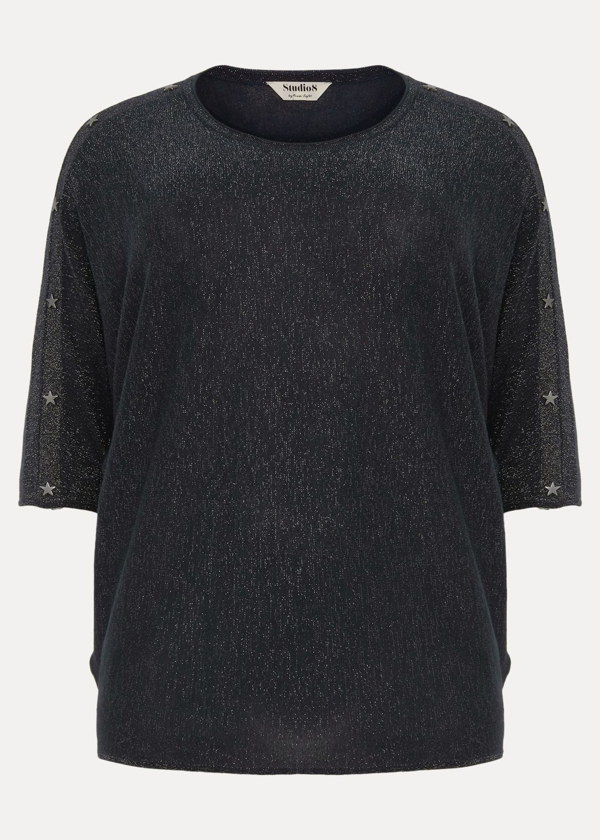 Abigale Star Shimmer Knit Top