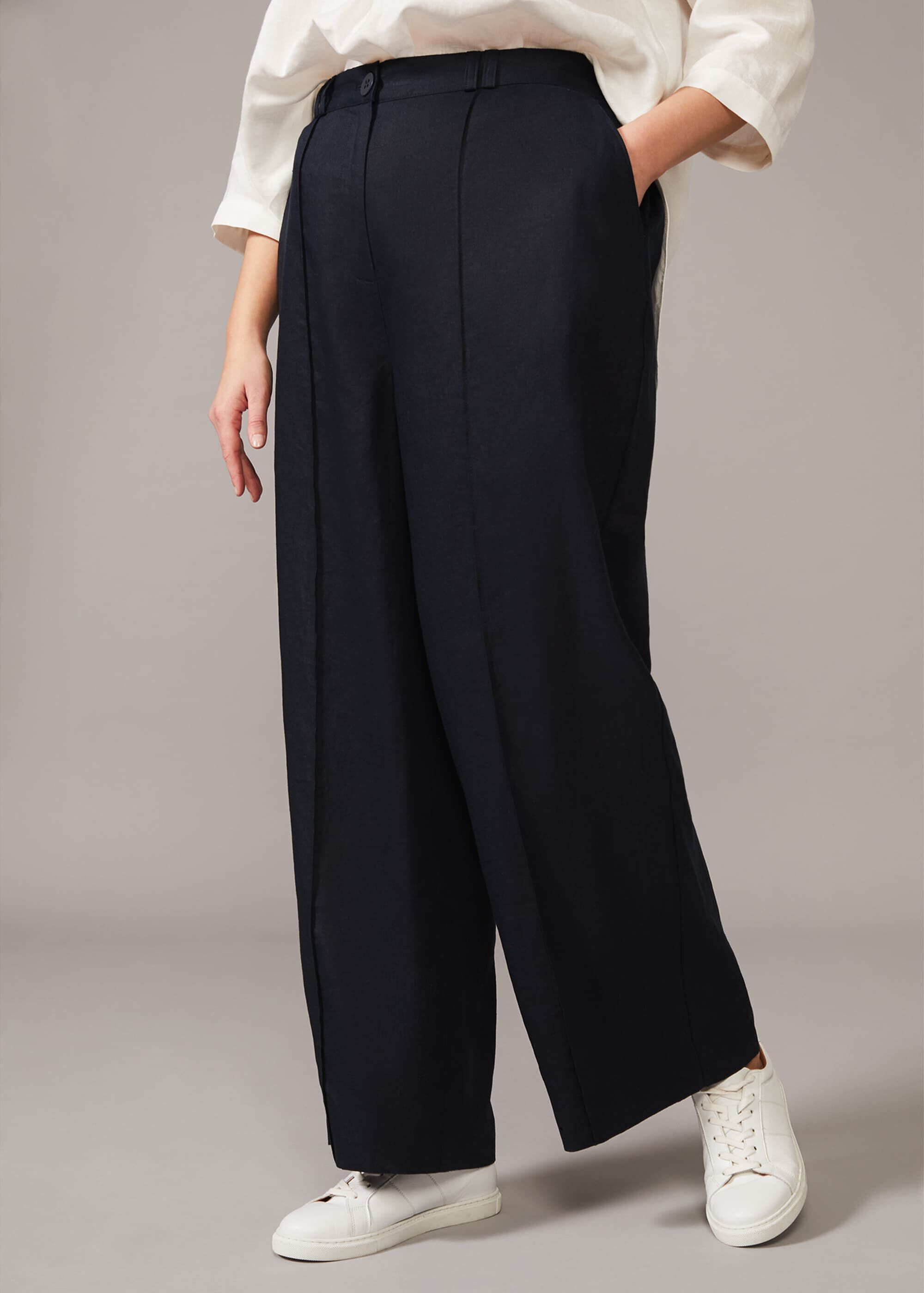 Taylor Wide Leg Linen Trouser 4