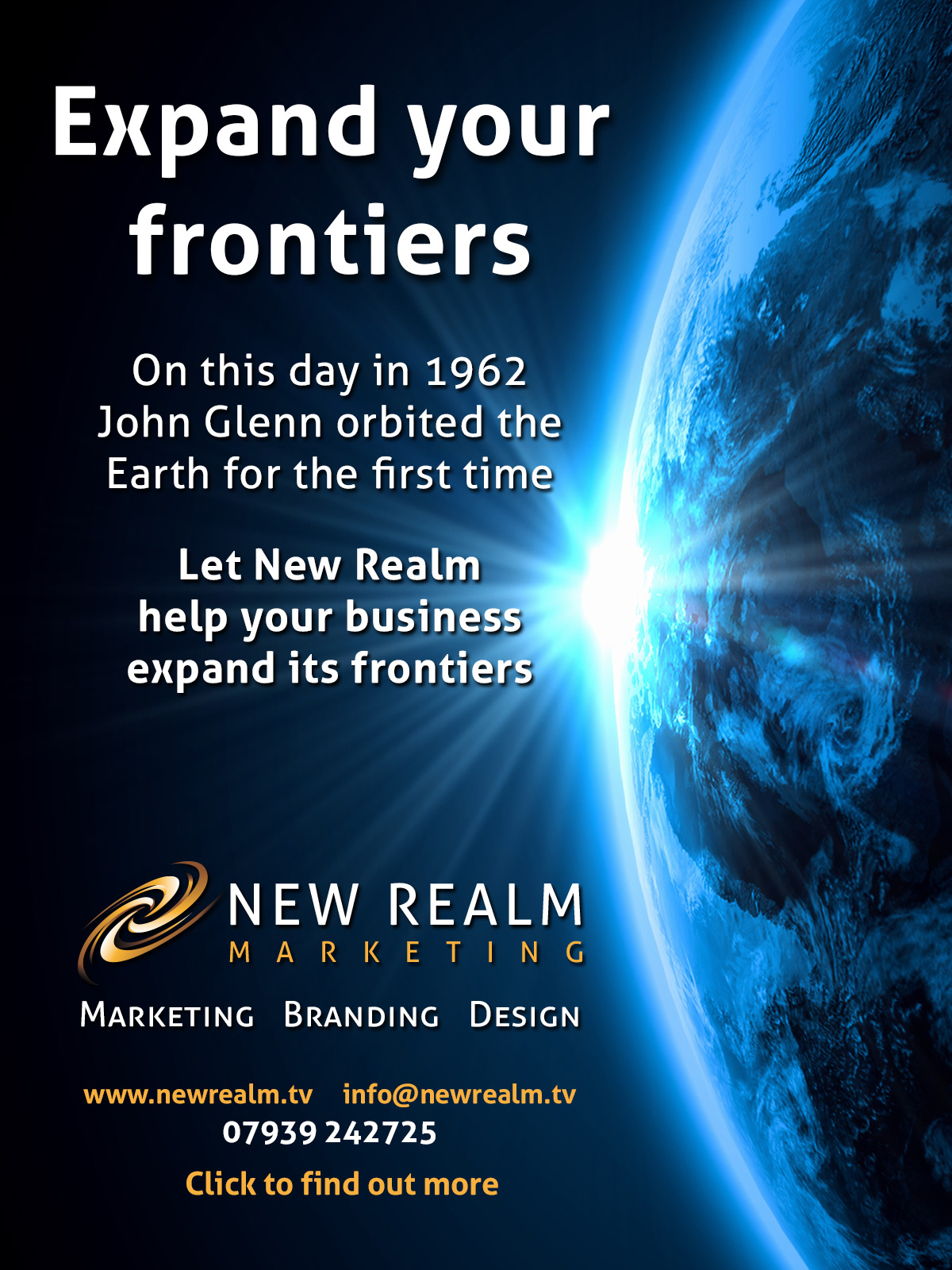 New Realm Frontiers advert