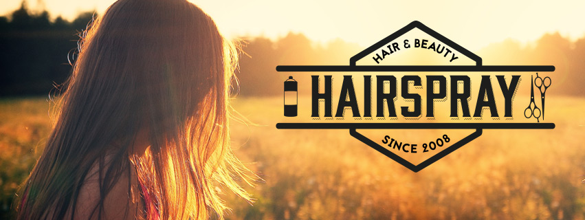 Logo for Hairspray Hair Salon, designed by Phase 3 Design