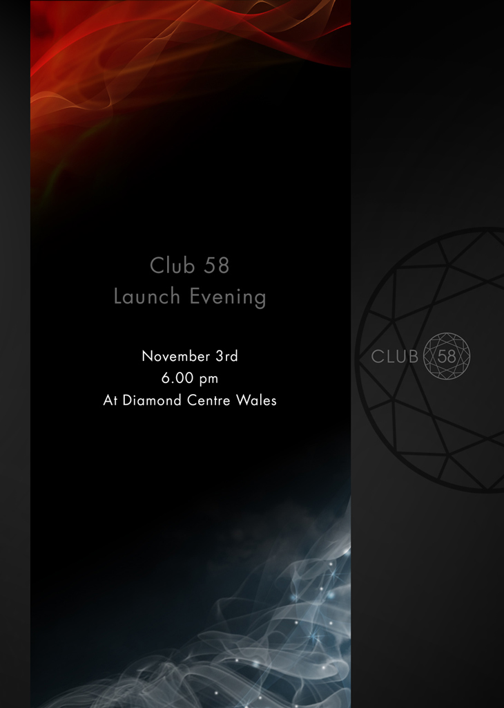 Invite to the Club 58 launch event.