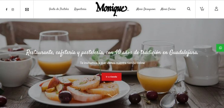 Monique Tienda Online Phase One Design